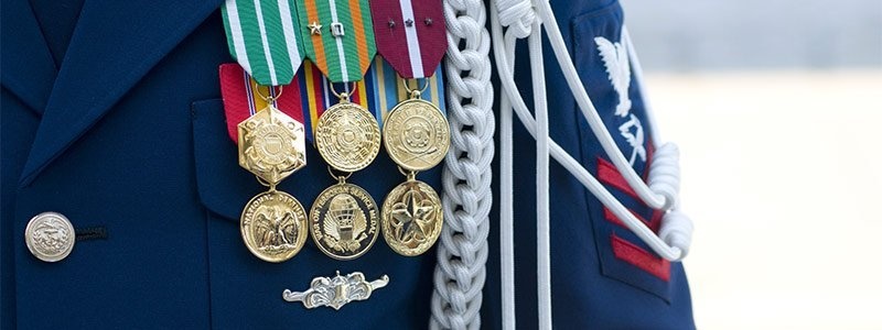 USCG medals on jacket